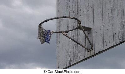 old basketball backboard - old used basketball backboard