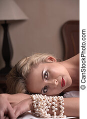 Nude adult woman - Sensual naked young blonde adult...