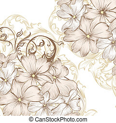 Wedding vector background with hand - Vector hand drawn...