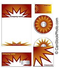 Orange company vector set