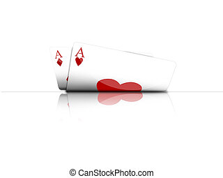 poker game - Illustration with the subject of the poker game
