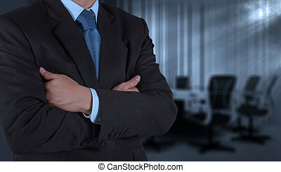 businessman success with his board room background