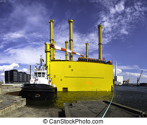 Transformer platform for energy generated from the offshore...