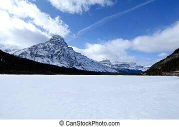 Waterfowl Lake in winter,Canadian Rockies,Canada