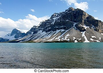 Bow Lake in spring,Canadian Rockies,Canada