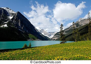 Lake Louise in spring,Canadian Rockies,Canada