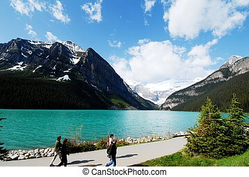 Lake Louise,Canadian Rockies,Canada - Lakeside of Lake...