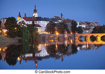 City of Pisek. - Image of Bohemian city of Pisek and...