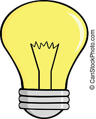 Cartoon Light Bulb Cartoon Character