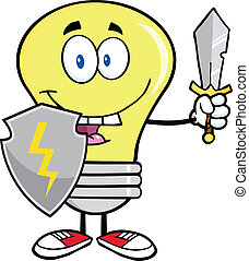 Light Bulb Guarder With Sword