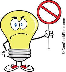 Angry Light Bulb