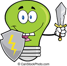 Green Light Bulb Guarder