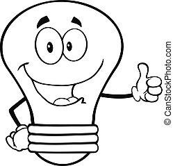 Outlined Light Bulb