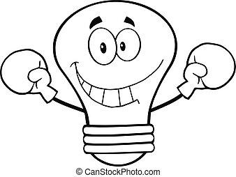 Outlined Light Bulb Boxer