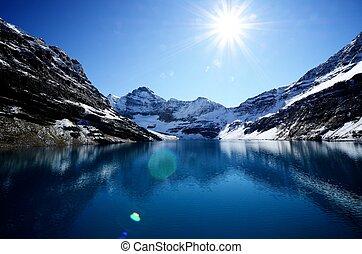 lago, McArthur, canadiense, Rockies, Canadá