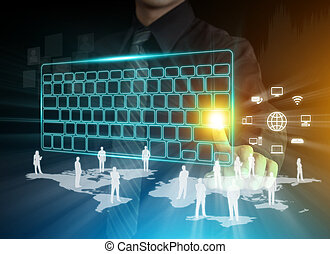 Digital keyboard and communication