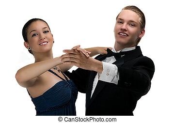Dancing Couple - A young modern couple dancing