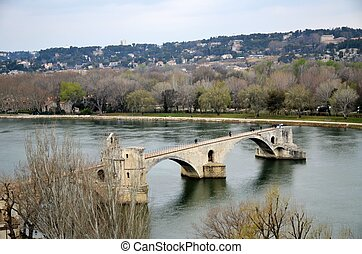 Avignon Bridge,France - Pont Saint-Bénezet,also called...