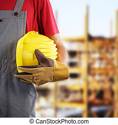Construction worker, protection equipment