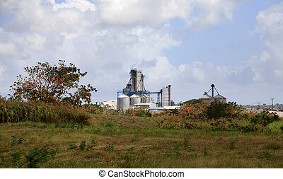 sugar factory - Sugar factory on the island of Barbados
