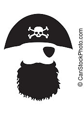 Pirate Head - Editable vector file eps and 300 dpi jpg files...