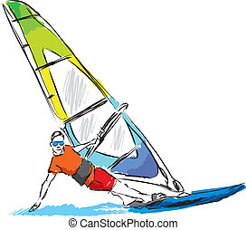 windsurf illustration
