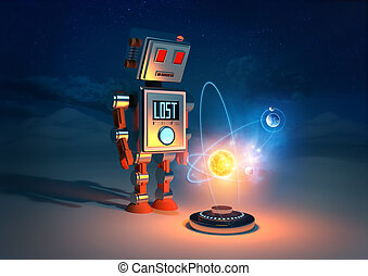 Robots Have Feelings - A retro Robot lost in space