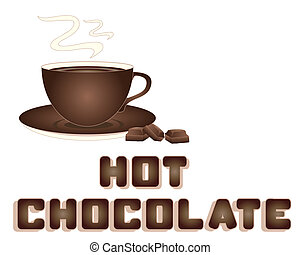 hot chocolate - an illustration of a hot chocolate advert...