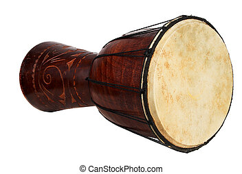 big african drum isoladet over white
