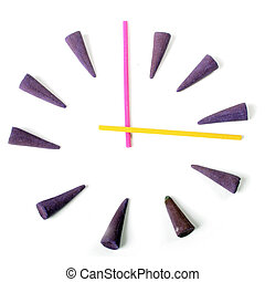 clock by aroma sticks