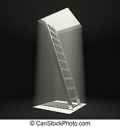 Ladder to freedom - Ladder leading up to the light