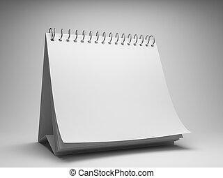 Desktop calendar - Blank desktop calendar