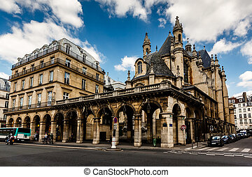 Historic Houses in the Center of Paris, France