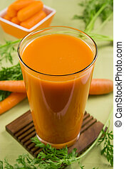 Carrot juice - A glass of carrot juice
