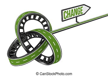 Different Way With CHANGE Sign