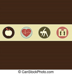 Healthy lifestyle symbols - Healthy lifestyle Healthy food...