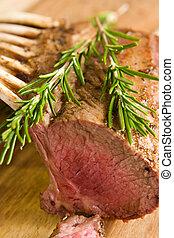 Roasted rack of lamb - Close-up of roasted rack of lamb