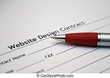 Website design contract