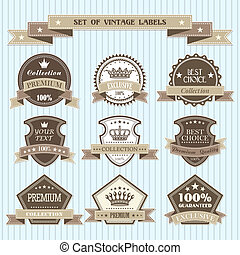 Set of vintage labels - The vector image Set of vintage...