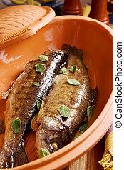 pez, cocido al horno