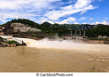 Hydroelectric powerplant at Hoa Binh province, north Vietnam