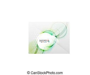 Vector futuristic blurred hi-tech shapes