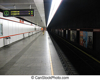 Subway - An undeground subway station in Vienna,Austria.