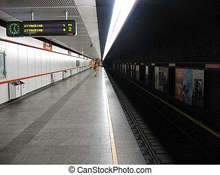 Subway - An undeground subway station in Vienna,Austria.