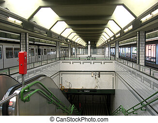 Vienna - Entry to the undeground subway station in Vienna...
