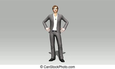 Animation of a posing Man