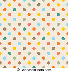 Vector colorful dots background - Seamless vector pattern,...