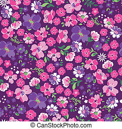 pretty in pink floral - seamless background