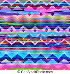 awesome tribal stripes - seamless background tile
