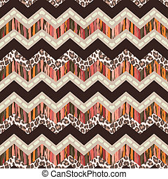 brown zigzag print - seamless vector background